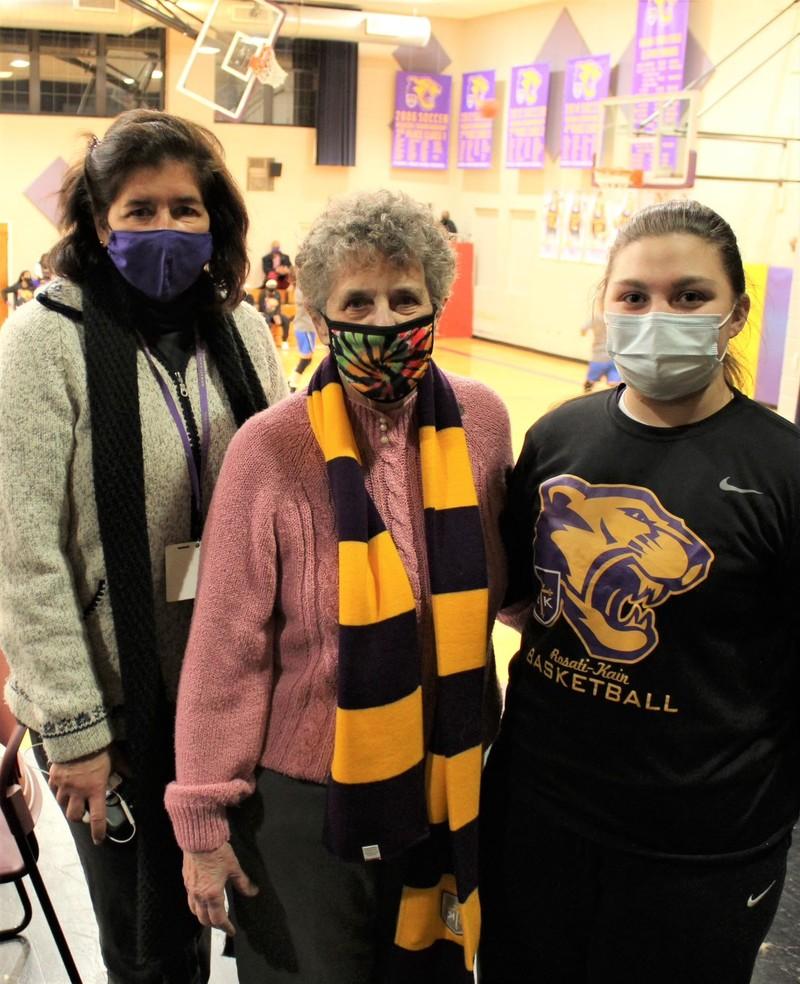 Sister Nancy with President Dr. Elizabeth Ann Goodwin